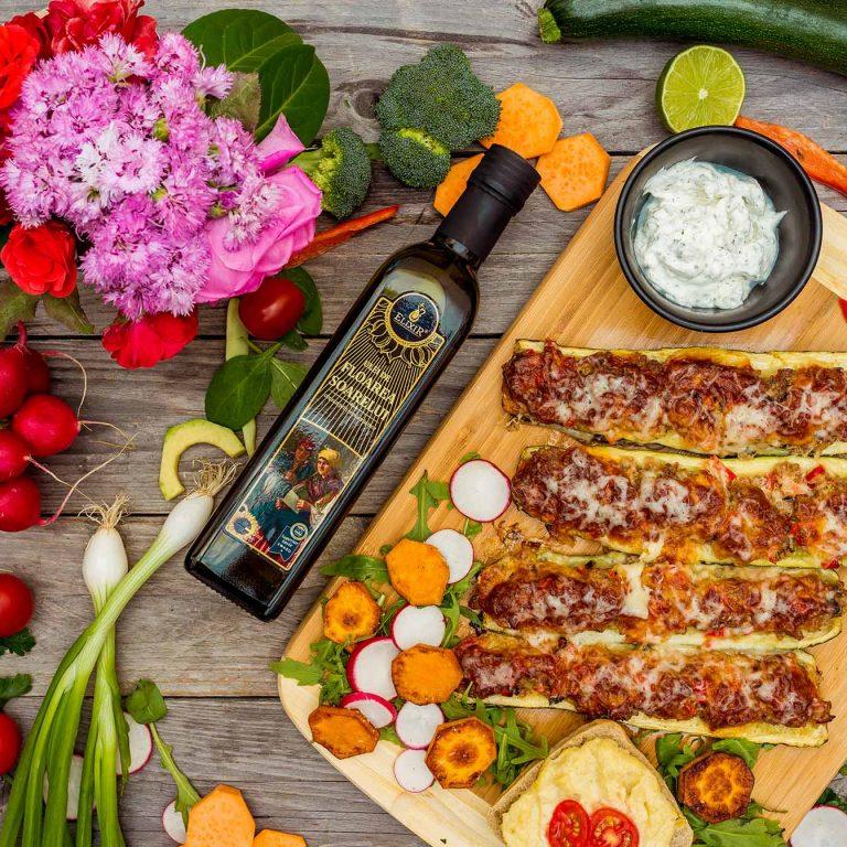 #MaiSănătos: dovlecei la cuptor, gătiți în ulei de floarea soarelui presat la rece Elixir