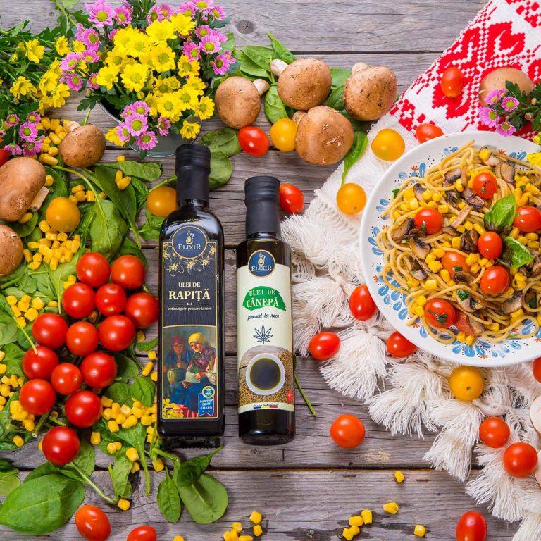 #MaiSănătos: despre varietatea alimentară + rețetă de paste cu ciuperci, roșii și porumb