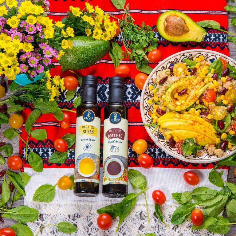 #MaiSănătos – salată de quinoa cu spanac, fasole, mango și avocado
