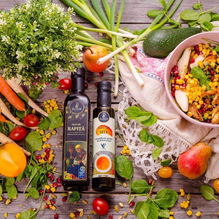 #MaiSănătos: salate pregătite cu ulei presat la rece Elixir